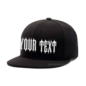 3cf68d8c1 Details about Custom Embroidered Personalized Flat Bill Snap back Hats  Baseball Hat Cap 301