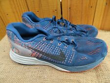 official photos 39f7c abcfa item 2 Nike Lunarglide Blue Orange Mesh Running Shoes Mens Size 9 747355-404  -Nike Lunarglide Blue Orange Mesh Running Shoes Mens Size 9 747355-404