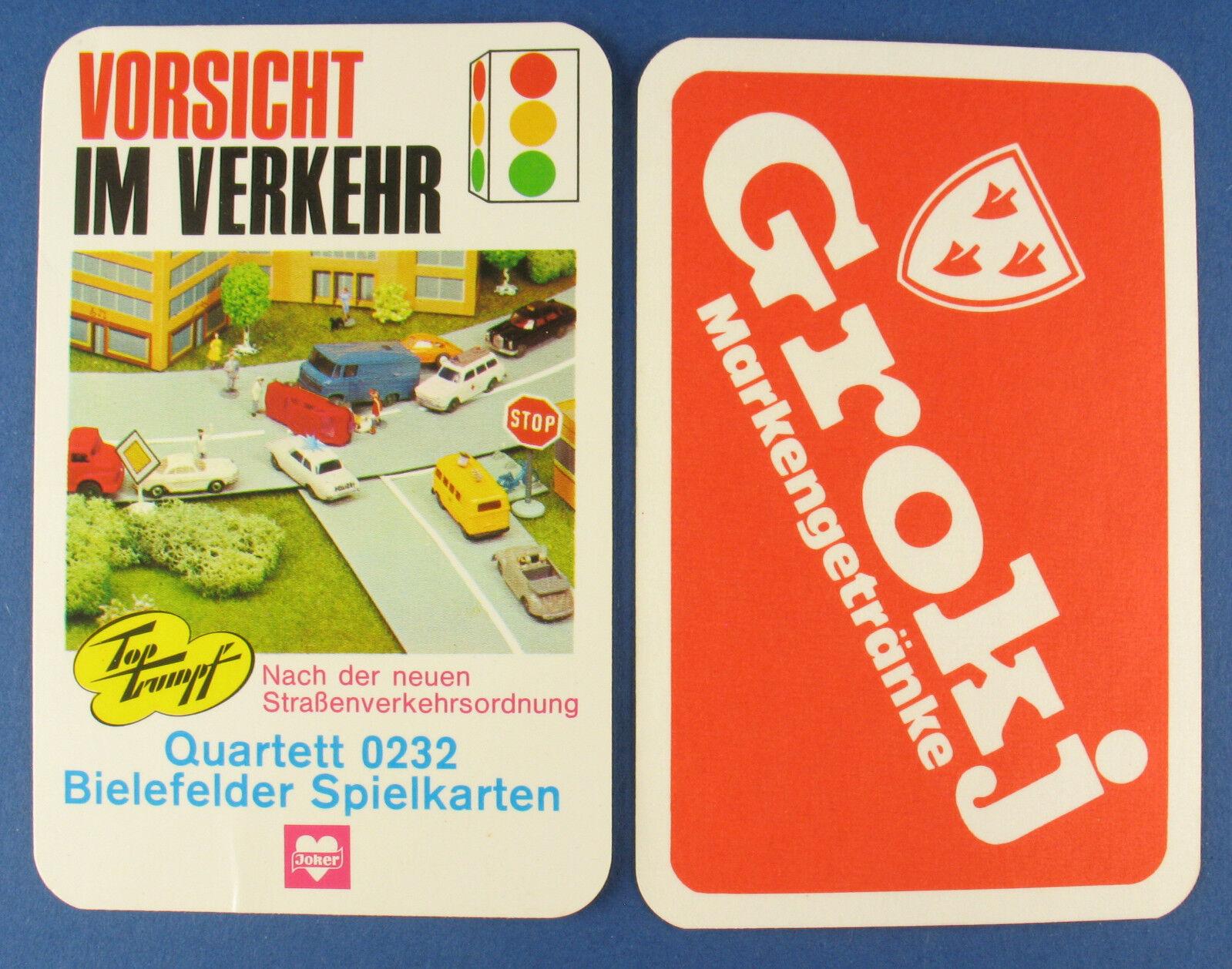 BIELEFELDER Qukonstett - VORSICHT IM VERKEHR - Braueri Egerer Grokj - Kkonstenspiel