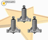 3 X Ride On Mower Spindle Assemblies Complete (3 Bolt) Suits Husqvarna/poulan