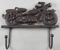 Cast Iron Motorcycle Coat Rack Garage Hooks Harley Davidson Look Key Rack