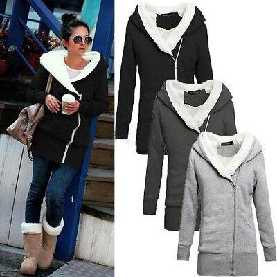 M-XXL 4 Colors Women Long Sleeve Hoodies Coat Jacket Outwear Sweatshirt Zip Tops