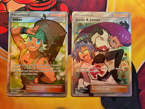 Pokemon-Hiker-SV85-SV94-Jessie-amp-James-Ultra-Rare-68-68-Hidden-Fates-GEM-MINT