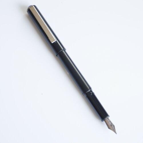 UK! Jinhao Black #991 Opaque Lightweight Fountain Pen Fine Nib Chrome Trim