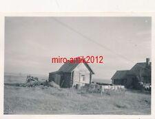 3 x Foto, Zahnarzt Einsatz Ostfront, Bauernhäuser in Antropschina, 1942