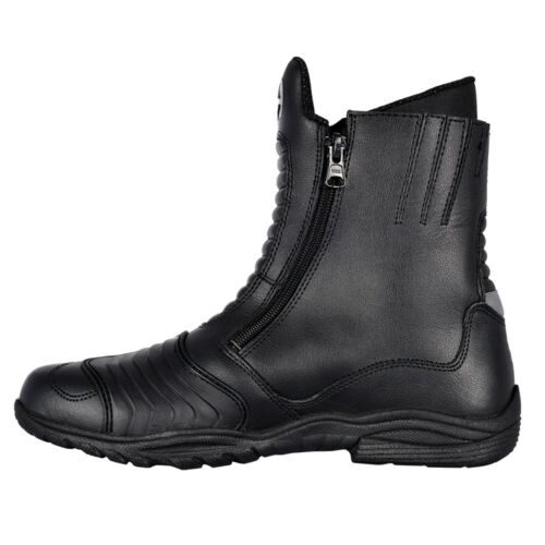 Oxford Warrior Full Length Leather Motorcycle Riding Boot Black US 11 BM10345