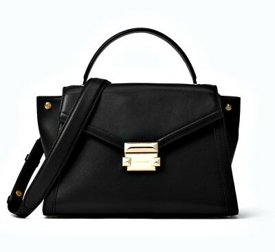 Michael Kors tasche handtasche whitney md satchel leder schwarz neu 30t8gxis2l | eBay