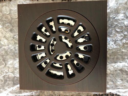 Signature Hardware 4 x 4 Brass Floor Drain Oil Rubbed Bronze A267-ORB