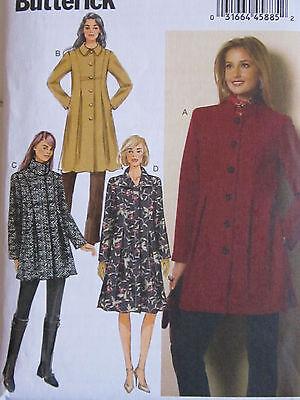 Butterick 6141 Misses Coat Button Front EASY PATTERN Sizes 14-16-18-20-22 UNCUT