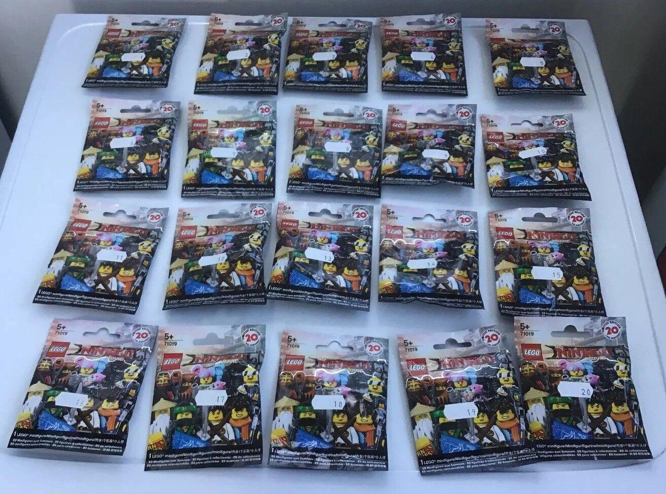 Lego Minifigures Ninjago Película Set 71019 completa 20 Minifiguras de 2017  Nuevo