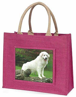 Pyrenäischer Mountain Hund Große Rosa Einkaufstasche Weihnachten Geschenkidee,