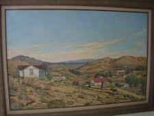 "Berenyce A. Baudoin Socorro New Mexico 24X36 Oil On Canvas ""View Of Madrid NM"""