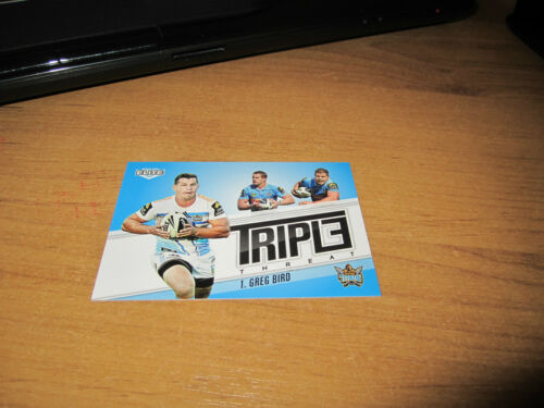 2013 NRL ELITE TRIPLE THREAT GREG BIRD GOLD COAST TITANS CARD TT13