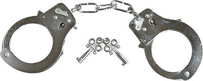 Police Handcuffs Military SIA Security Polished Steel