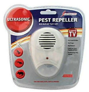 Ultrasonic Mouse Mice Rat Spider Pest Repeller And Night