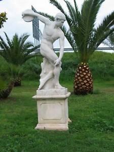 Statua In Cemento E Polvere Di Marmo No Pietra Arredo Giardino