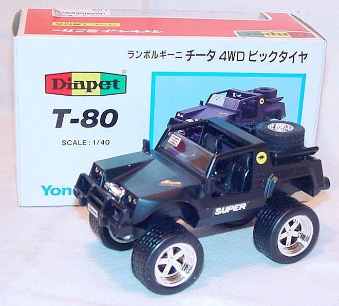 Diapet 1 40 LAMBORGHINI LM-500 CHEETAH 4x4 4WD BIG TIRE Model Car T-80 MIB`85