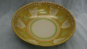 Rare-Gambone-era-CAS-Vietri-Italy-hand-painted-chicken-large-serving-bowl-salad