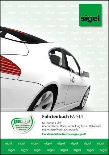 """A5 32 Blatt sigel Formularbuch /""""Fahrtenbuch Pkw und Lkw/"""""""