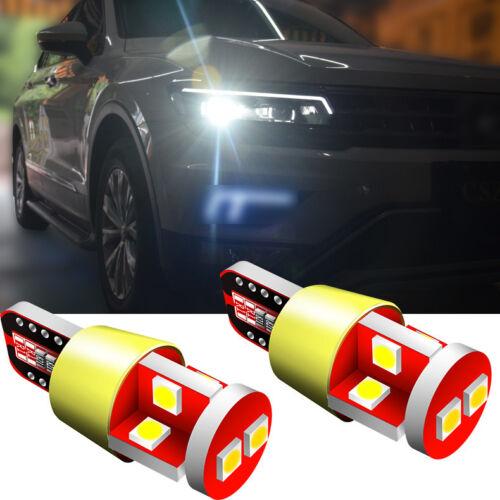 2Ps Fits L200 Xenon 10SMDs LED Error Free Side Light Beam Upgrade W5W White Bulb