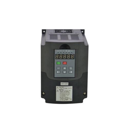 CNC INVERSOR VFD Unidad de frecuencia variable 2.2KW 220V 3HP 10A Actualizado