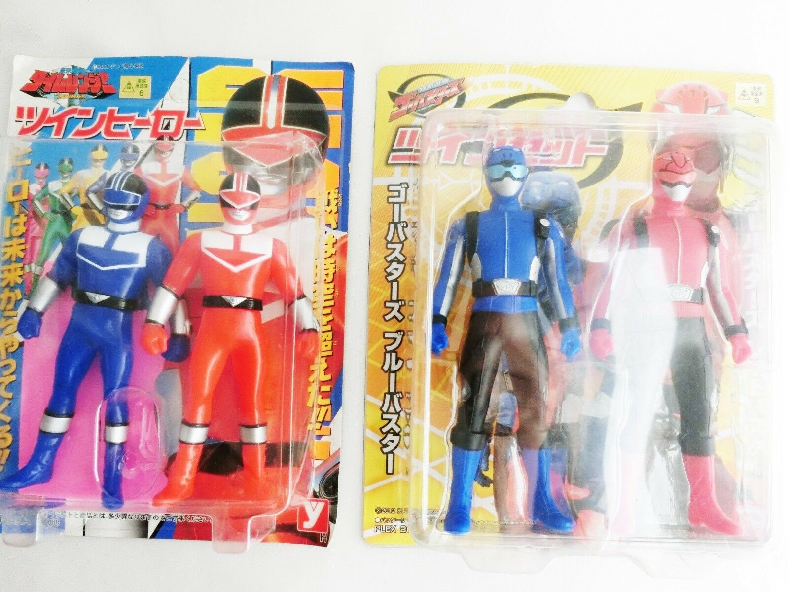 Twin Hero Set Timeranger Go-Busters Yutaka 2000 PLEX 2012 Red bluee Figure Japan