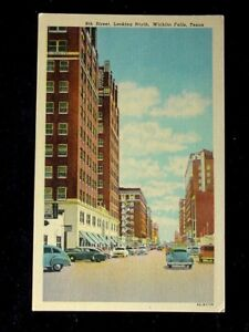 1940 S Stores 8th St Looking North Wichita Falls Tx Post Card Ebay