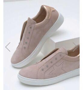 Mint Velvet Pink Suede Trainers 40   eBay