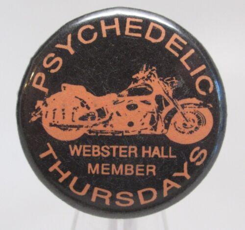 Psychedelic Thursday Webster Hall Member Pinback Button Vintage