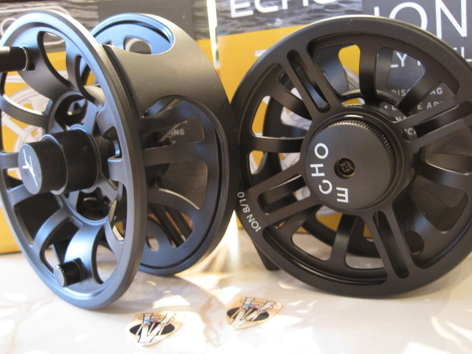 Echo Ion Large Arbor Trout Salmon & & & Saltwater Fly Fishing Reel 6 Größes fa3778