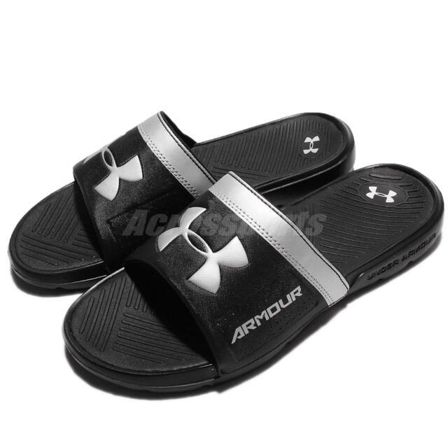 7d53d1879f58c Under Armour Playmaker VI 6 Black Men Sports Sandal Slide Slipper  1287323-001