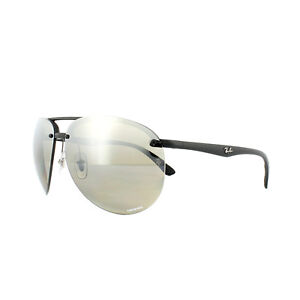 3694d0d30ca Image is loading Ray-Ban-Sunglasses-4293CH-601S5J-Black-Polarized-Silver-