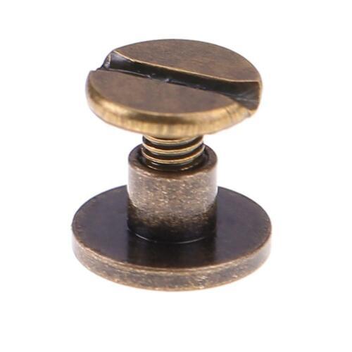 20pcs Set Belt Screw Leather Craft Nail Brass Rivets Stud nail Flat head Screws