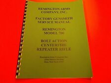 DETAILED NINE PAGE GUNSMITH MANUAL FOR REMINGTON MODEL 700 RIFLE, clean / repair