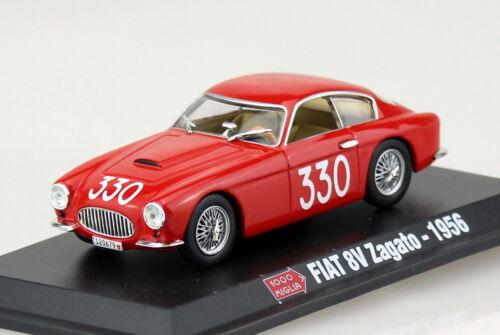 Die-cast Fiat 8V Zagato Mille Miglia 1956 #330 1:43  Modellauto