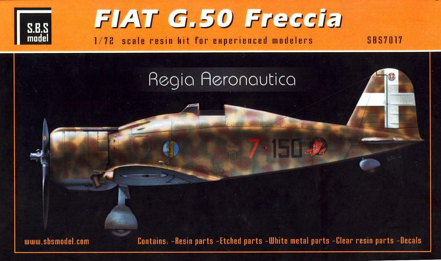 SBS Models 1 72 FIAT G.50 FRECCIA Italian Regia Aeronautica Fighter
