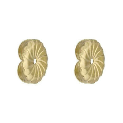 PushBack Friction Medium Backing Earrings 7MM Solid Stud 14k Yellow Gold