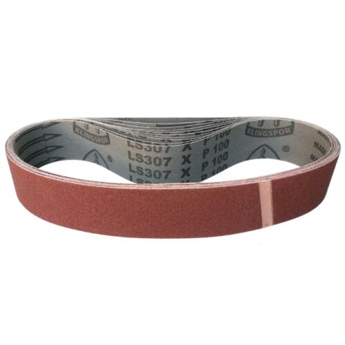 10x Klingspor tissus Schleifband abrasives 45x800 mm grain GRAIN p40-p320