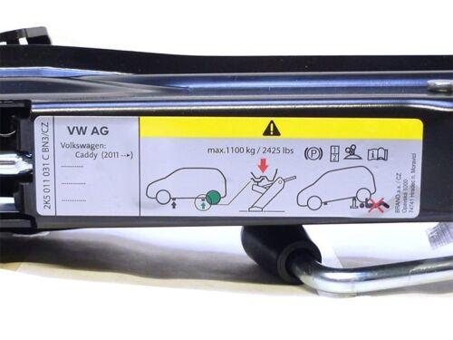 VW CADDY 2k carrello sollevatore 2k5011031c strumento sollevatore bordo utensile NUOVO