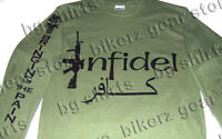 Infidel Navy Seals Delta Force Spec Ops Long Sleeve T Shirt S-3x Green Marines