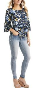 NWT-WOMANS-RUFFLE-PEPLUM-FLORAL-TOP-SIZE-S-SMALL-4-6-NEW