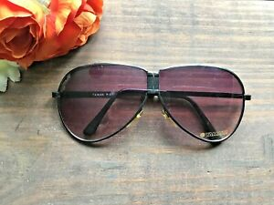 c-1970-039-s-Vintage-YAMAHA-Motorcycle-Sunglasses-Aviator-Folding-Style-Black-NICE
