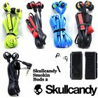 Skullcandy SMOKIN BUDS 2 Supreme Sound Earphones Mic Blue Black Red White New