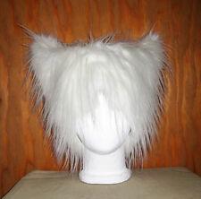 WHITE MONSTER FUR KITTY CAT EARS HAT ANIME COSPLAY EDC FESTIVAL EDM HALLOWEEN