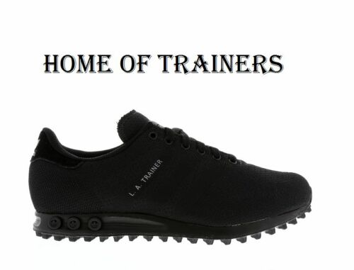 Exclusive Adidas Original LA Trainer Weave Triple Black Men/'s Trainer All Sizes