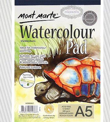 3pcs mont marte A5 300gsm MSB0067 watercolour pad German paper 12 White sheets