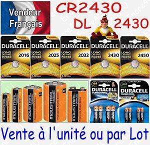 Piles-DURACELL-Lithium-3V-CR2430-DL2430-a-l-039-unite-ou-par-lot-de-2-5-10-20