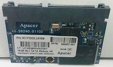 HP Apacer 16GB MLC SATA Module, HF 8C.F1DD2.LR10B PN 689057-001 New