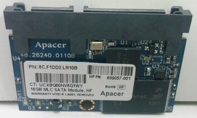 Lot of 3 Apacer 8Y.F1CD4.LR25B 16GB SSD MLC SATA Modules