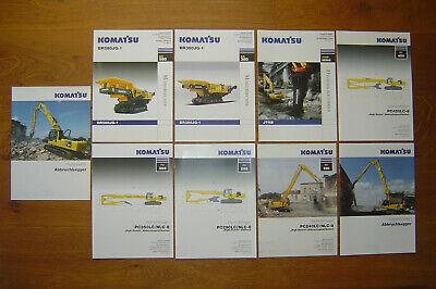 Conrad Excavator Demolition Bagger Prospekte Set Komatsu Abbruch